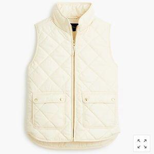 J. Crew Excursion Vest in Cream